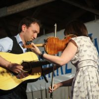 Alex Rubin and April Verch at the 2017 Delaware Valley Bluegrass Festival - photo by Frank Baker