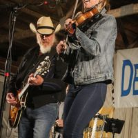 Ray Benson and Katie Shore with Asleep At The Wheel at the 2017 Delaware Valley Bluegrass Festival - photo by Frank Baker