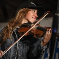 Katie Shore with Asleep At The Wheel at the 2017 Delaware Valley Bluegrass Festival - photo by Frank Baker