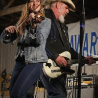 Katie Shore and Ray Benson with Asleep At The Wheel at the 2017 Delaware Valley Bluegrass Festival - photo by Frank Baker