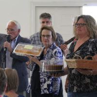 Cake raffle at the Tommy Long benefit show in Garner, NC (9/10/17) - photo by Laura Tate Photography