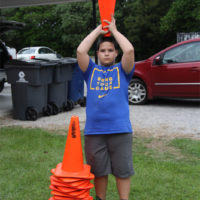 Young conehead at the Tommy Long benefit show in Garner, NC (9/10/17) - photo by Laura Tate Photography