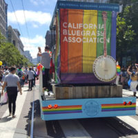 Bluegrass Pride contingent float at the 2017 SF Pride Parade