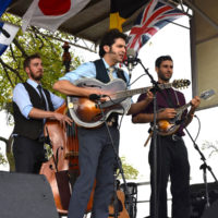 Andrew Collins Trio from Canada at the 2017 Oklahoma International Bluegrass Festival - photo by Pamm Tucker