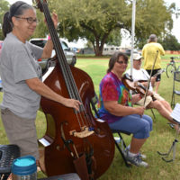 Campground jam at the 2017 Oklahoma International Bluegrass Festival - photo by Pamm Tucker