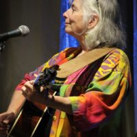 Cathy Fink at the 2017 Wide Open Bluegrass - photo by Frank Baker