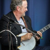 Mark Johnson at the clawhammer banjo workshop at the 2017 Wide Open Bluegrass - photo by Frank Baker