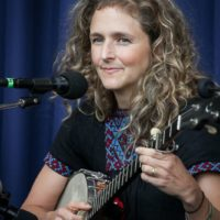 Abigail Washburn at the clawhammer banjo workshop at the 2017 Wide Open Bluegrass - photo by Frank Baker