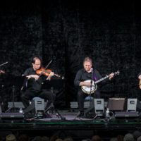 The Kruger Brothers with Kontras Quartet at the 2017 Wide Open Bluegrass festival - photo by Frank Baker