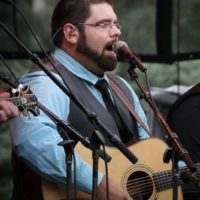 Dustin Pyrtle with Doyle Lawson & Quicksilver at the 2017 Wide Open Bluegrass - photo by Frank Baker