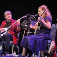 Béla Fleck and Abigail Washburn at the 2017 Wide Open Bluegrass festival - photo by Frank Baker