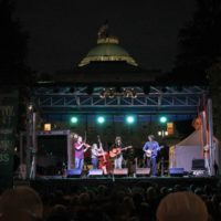 Molly Tuttle Band at the 2017 Wide Open Bluegrass StreetFest - photo by Frank Baker