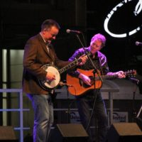 Danny Barnes and Nick Forster at the 2017 Wide Open Bluegrass StreetFest - photo by Frank Baker