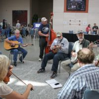 Jamming workshop in the Convention Center at the 2017 Wide Open Bluegrass StreetFest - photo by Frank Baker