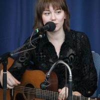 Molly Tuttle at the guitar workshop during the 2017 Wide Open Bluegrass - photo by Frank Baker