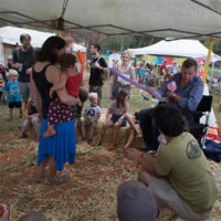 Balloon fun for kids at The Festy, 2017 - photo by Gina Elliott Proulx