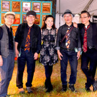 Blueside Of Lonesome from Japan at the 2017 Oklahoma International Bluegrass Festival - photo by Pamm Tucker