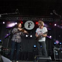 Jeremy Garrett and Sam Bush at The Festy, 2017 - photo by Gina Elliott Proulx
