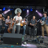 Sam Bush with The Infamous Stringdusters at The Festy, 2017 - photo by Gina Elliott Proulx