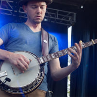 Chris Pandolfi with The Infamous Stringdusters at The Festy, 2017 - photo by Gina Elliott Proulx
