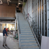 Main entrance stairway at the new International Bluegrass Museum (10/6/17) - photo by Katie Keller