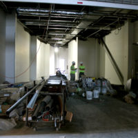 Future exhibit space at the new International Bluegrass Museum (10/6/17) - photo by Katie Keller