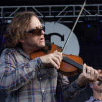 Jeremy Garrett with The Infamous Stringdusters at The Festy, 2017 - photo by Gina Elliott Proulx