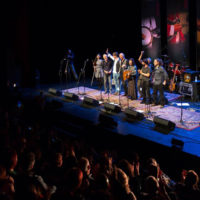 Final bow at the 2018 Red Wine Bluegrass Party in Genoa - photo by Giovanna Cavallo
