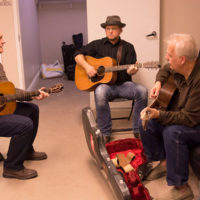 Vintage Martins rehearsing in the green room at the Logandale Fall Fest - photo by Debby Clickenbeard