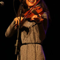 Annie Staninec at the 2018 Red Wine Bluegrass Party in Genoa - photo by Giovanna Cavallo