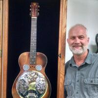 Mike Auldridge's Model 37 (serial #401) on display in the Beard shop