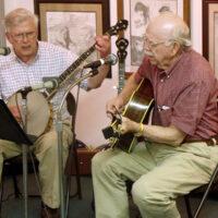 Bobby Patterson and EWillard Gayheart performing at the Blue Ridge Music Center