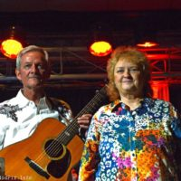 Tommy Long and Lorraine Jordan at the 2017 Bluegrass Christmas In The Smokies - photo © Bill Warren