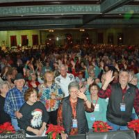 Audience and volunteers at the 2017 Bluegrass Christmas In The Smokies - photo © Bill Warren