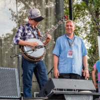 Riley Gilbreath with Alan Tompkins at the Bloomin' Bluegrass Festival in Texas - photo by Nathaniel Dalzell