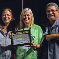 Jo Beth Bird receives an award at the 2018 Yee Haw Music Fest - photo © Bill Warren
