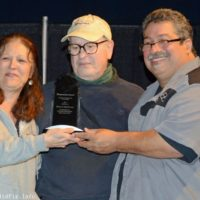 Ted Lehmann receives an award at the 2018 Yee Haw Music Fest - photo © Bill Warren