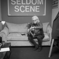 Ricky Skaggs warms up backstage at The Birchmere (1/27/18) - photo by Jeromie Stephens
