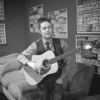 Jake Workman backstage at The Birchmere (1/27/18) - photo by Jeromie Stephens