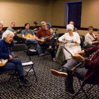 Akira Otsuka leads mandolin workshop at the 2018 Joe Val Bluegrass Festival - photo © Tara Linhardt