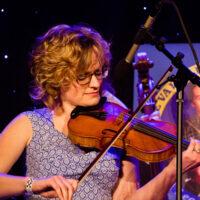 Laura Orshaw with Po' Ramblin' Boys at the 2018 Joe Val Bluegrass Festival - photo © Tara Linhardt