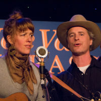 Reeb Willms and Caleb Klauder with Foghorn String Band at the 2018 Joe Val Bluegrass Festival - photo © Tara Linhardt