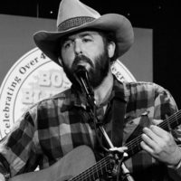 Robert Greer with Town Mountain at the 2018 Joe Val Bluegrass Festival - photo © Tara Linhardt