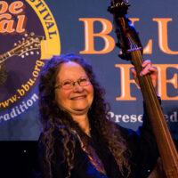 Sharon Horovitch with Southern Rail at the 2018 Joe Val Bluegrass Festival - photo © Tara Linhardt
