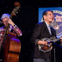 Tom Gray and Akira Otsuka at the 2018 Joe Val Bluegrass Festival - photo © Tara Linhardt