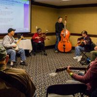 Slow jam at the 2018 Joe Val Bluegrass Festival - photo © Tara Linhardt