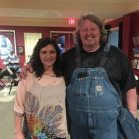 MC Annette Grady with Curt Chapman of Wildfire at the Ernie Thacker benefit in Greenville, TN (2/23/18) - photo by Melanie Wilson