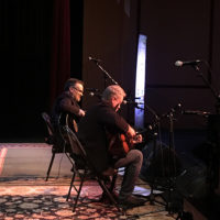 Steve Gulley and Tim Stafford at the Ernie Thacker benefit in Greenville, TN (2/23/18) - photo by Melanie Wilson