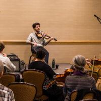 Alex Hargreaves fiddle workshop at Wintergrass 2018 - photo © Tara Linhardt