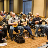 Chris Henry mandolin workshop at Wintergrass 2018 - photo © Tara Linhardt